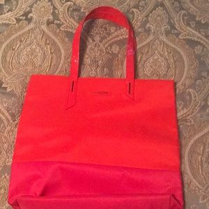 Lancome tote in red and orange